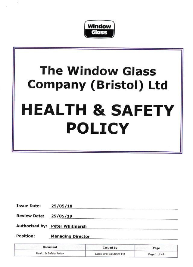 Health and Safety Policy - Front Page